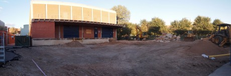 Panoramic view of the construction site: 0