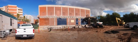 Panoramic view of the construction site: 1