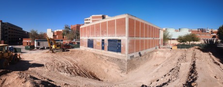 Panoramic view of the construction site: 2