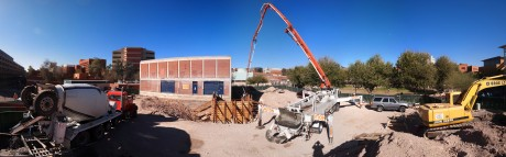 Panoramic view of the construction site: 3