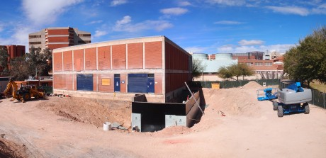 Panoramic view of the construction site: 5