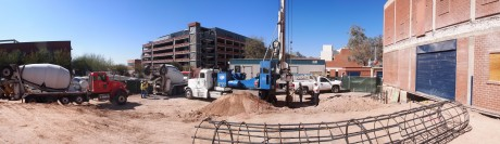 Panoramic view of the construction site: 6