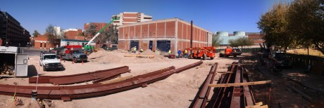 Panoramic view of the construction site: 7