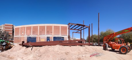 Panoramic view of the construction site: 8