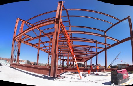 Panoramic view of the construction site: 10