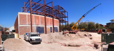 Panoramic view of the construction site: 11