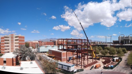 Panoramic view of the construction site: 12