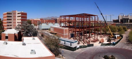 Panoramic view of the construction site: 13