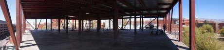 Panoramic view of the construction site: 16
