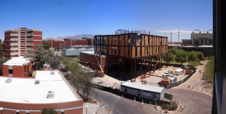 Panoramic view of the construction site: 17