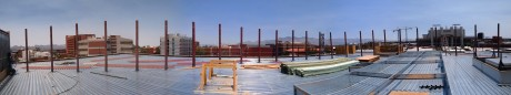 Panoramic view of the construction site: 19