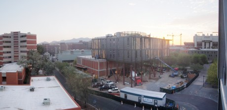 Panoramic view of the construction site: 20