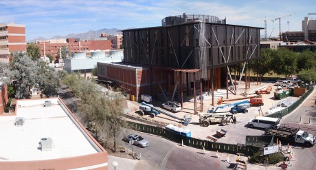 Panoramic view of the construction site: 24