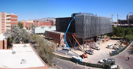 Panoramic view of the construction site: 25