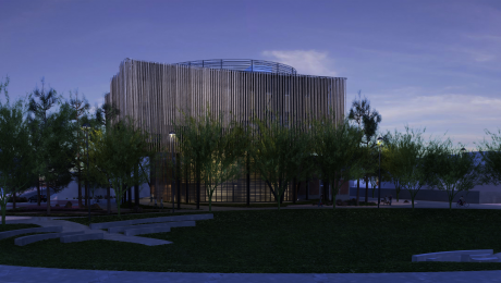 3D rendered image of the building: 4