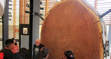 Jemez students visiting the Tree-Ring Lab